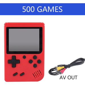 Image 1 - children mini boy video handheld game 500 in 1 players console 8 bit retro video game console 8bit for Child Nostalgic Player