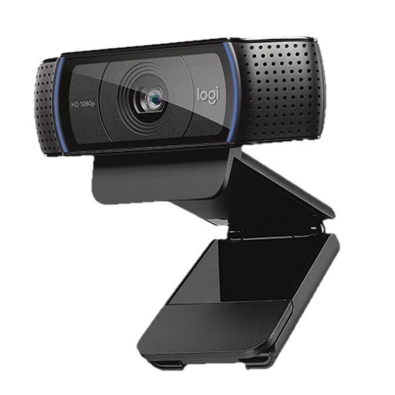 Logitech C920 Webcam Full HD 1080P caméra grand écran Auto-Focus Microphone intégré USB ordinateur de bureau Webcam pour ordinateur portable