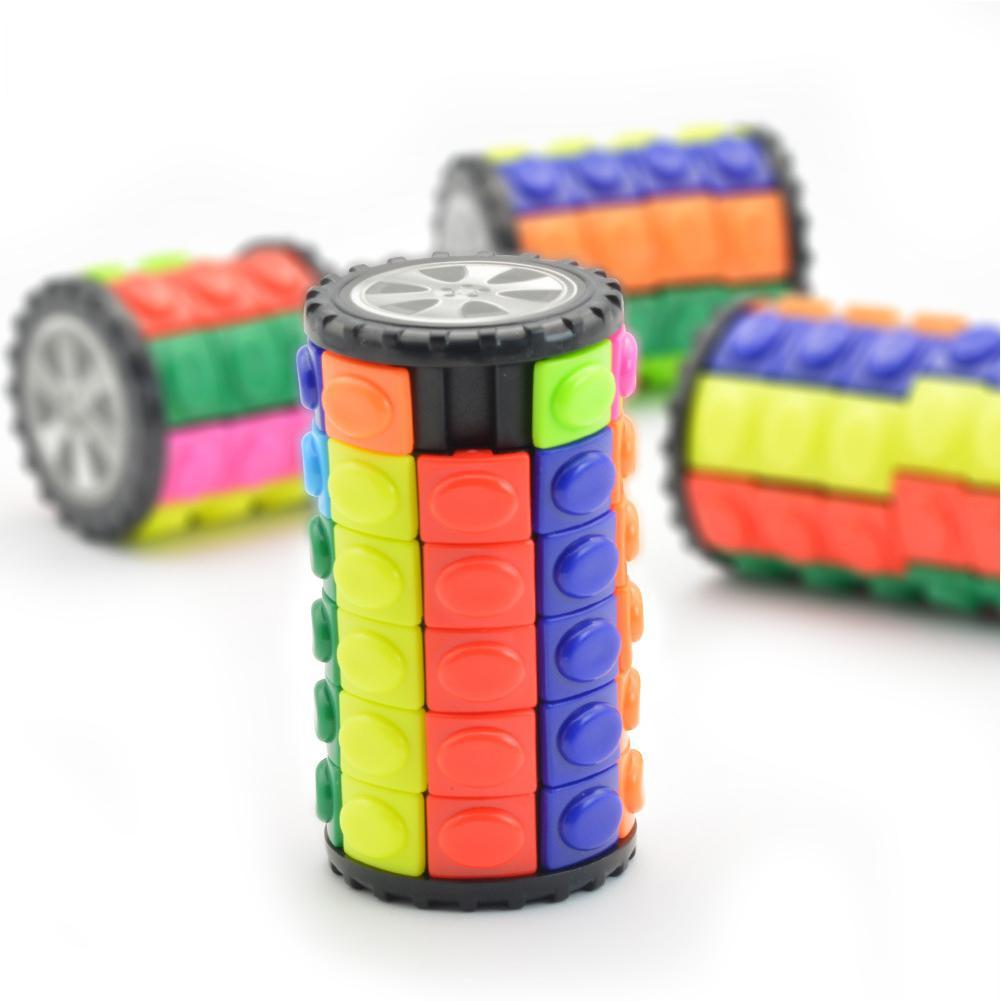 Puzzle Toys Slide-Cylinder Relief-Cube Babylon-Tower Stress Rotate Colorful Adults Children img4