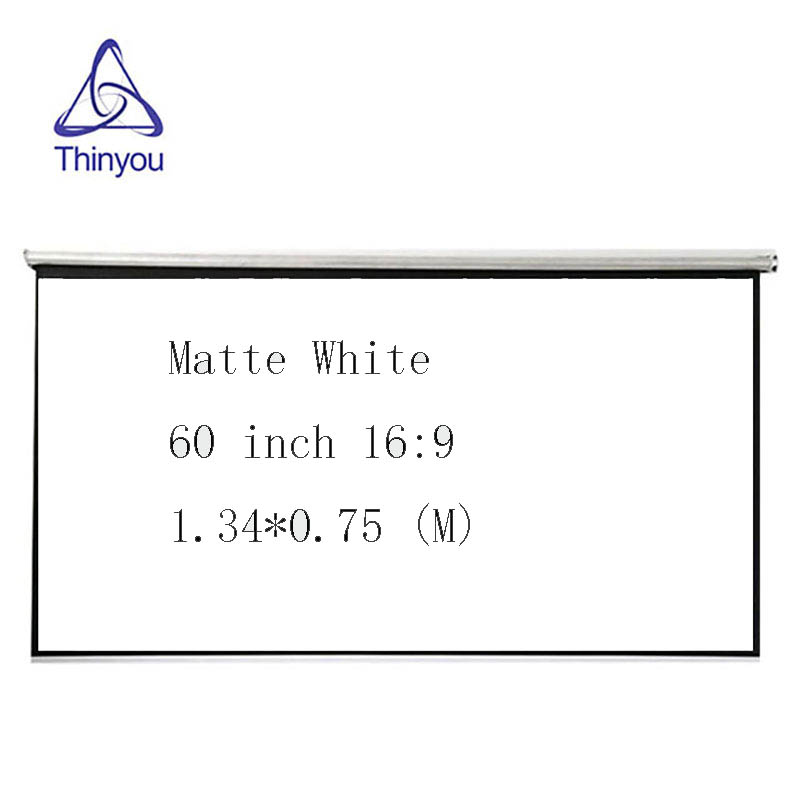 Thinyou Top quality 60 inch 16:9 Pull Up standing Curtains and hand protable projector screen for office home use