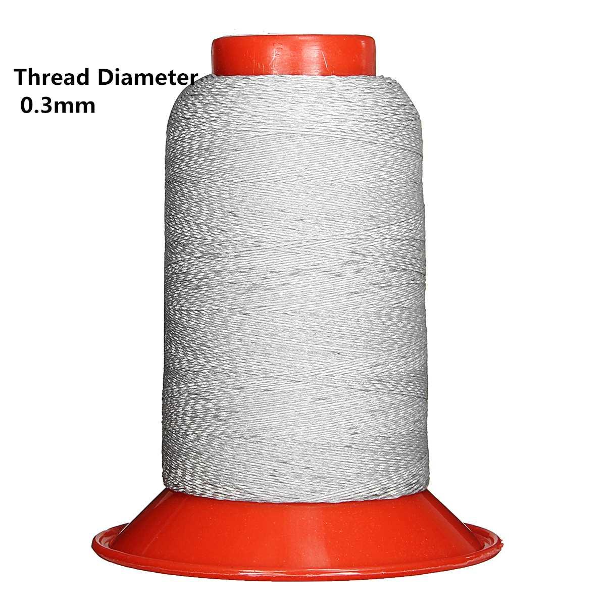 Нить для шитья из полиэстера светоотражающий 1000 м/рулон диаметром 0,5 мм/0,3/0,25/0,15 мм DIY Швейные для безопасной работы с химическими веществами Кепки Костюмы серебристо-серый - Цвет: Thread Dia 0.3mm