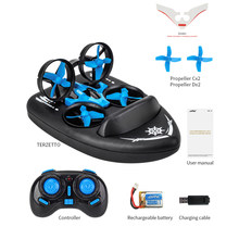 2.4G 3-in-1 RC Quadcopter Drone Mini Helicopter Water-Ground-Air Mode Drone Aircraft Adult Children Dron Toy Gift One Key Return