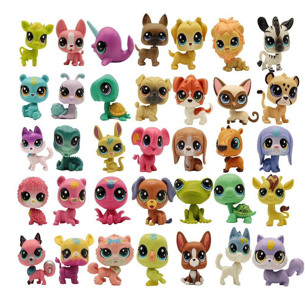 10/50 шт. цвет при отправке выбирается случайным образом уникальные оригинальные Домашние животные магазин игрушек котенка Aminals мини игрушки ...