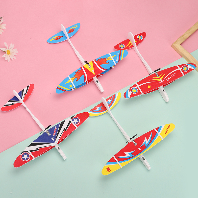 New Style Electric Hand-Tossed Charging Foam Airplane Park Square Hot Selling Cyclotron Model Airplane CHILDREN'S Toy Model Mach