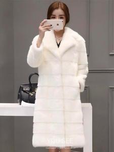 Mink-Coats Genuine-Fur-Jackets Real-Mink-Fur Natural Ladies Winter Long Women Luxury