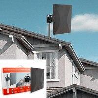 AH LINK Smart Digital HDTV Antenna 500 Miles Outdoor Indoor TV Antennas Signal Reception Amplifier Booster ATSC DVB TV Aerial