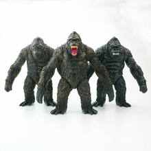 17.5cm Wild Animals Chimpanzee 3Styles Gorilla Movie Version of Monster Action Figure Ornament Doll Model Toy