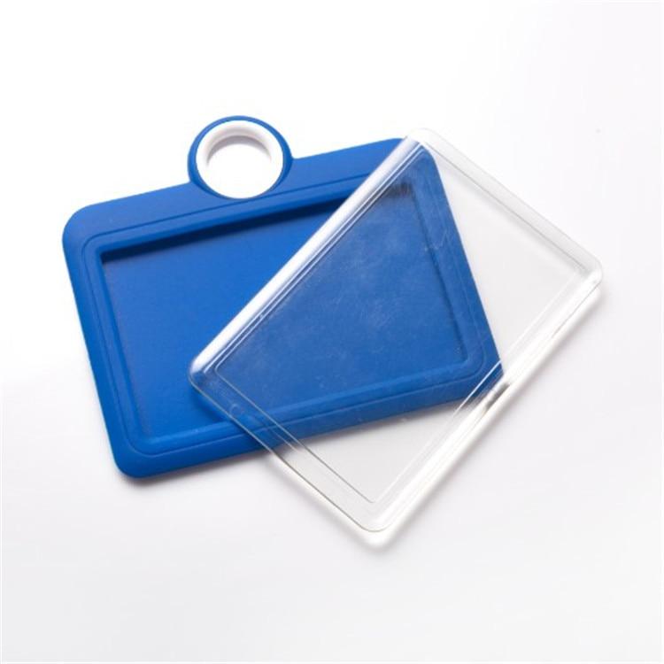UHOO 6052 Silica Gel Certificate Card Sleeve Work Permit Student's Identification Card Work Card Badge Bus Card Certificate Hold