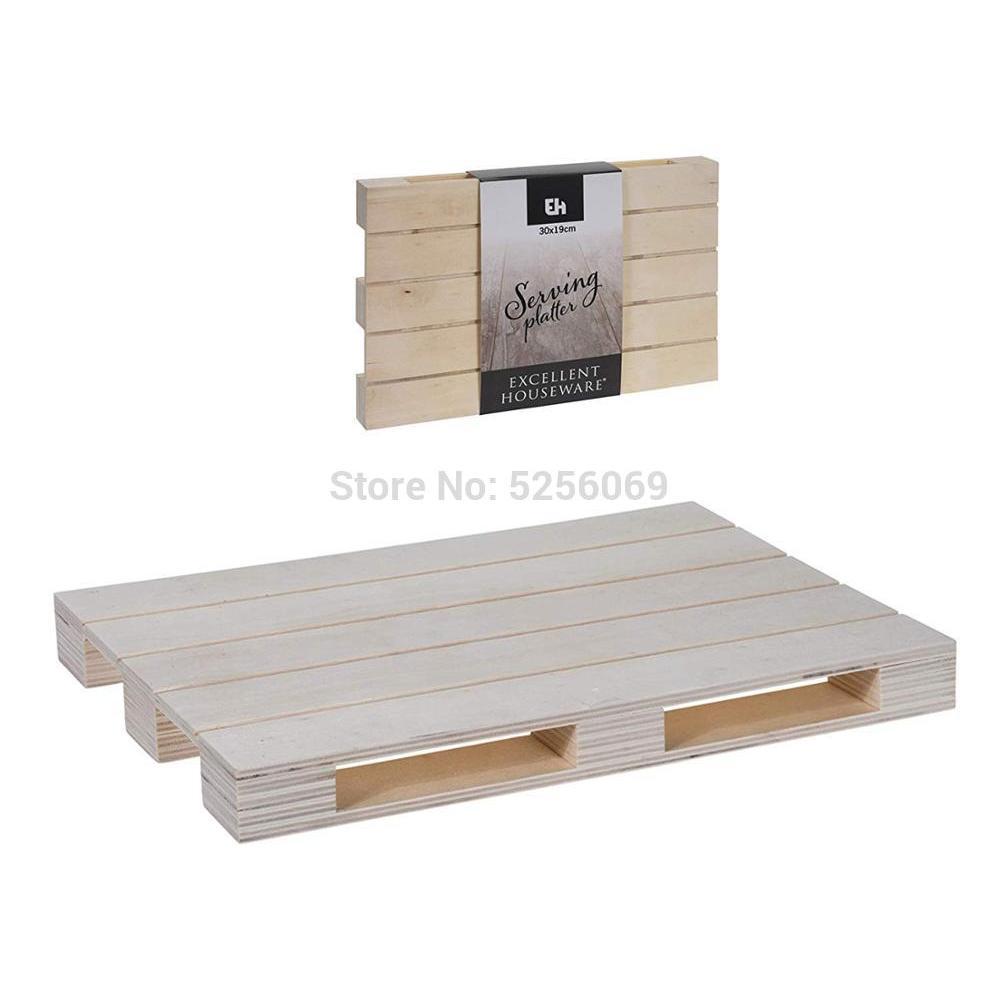 DECORAHOME®Mini Pallet Wood 20x12x2.9cm
