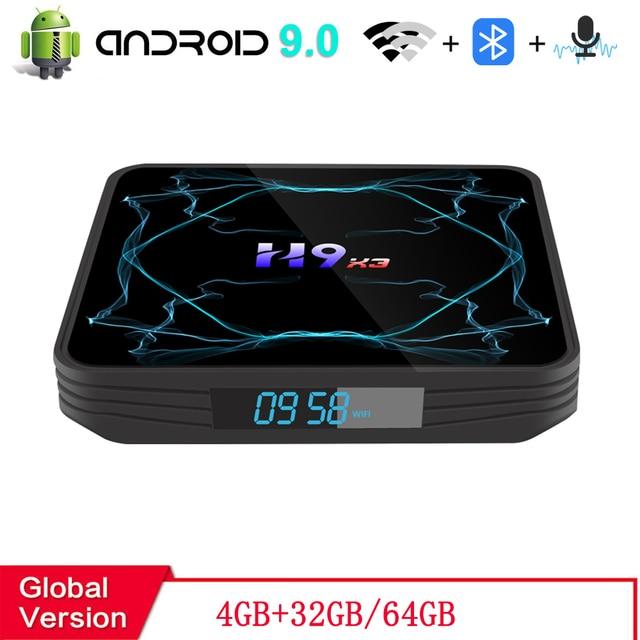 صندوق التلفزيون أندرويد 9.0 4GB 64GB Amlogic S905X3 صندوق 8K HD 2.4/5G واي فاي Netflix مشغل الوسائط تي في بوكس أندرويد