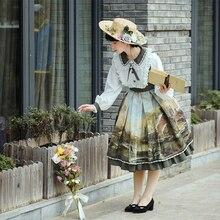 Op With Gauze Original Design Oil Painting Cosplay Lolita Sweet Dress Classic Lolitas Victoriaans Loli Girls Long Sleeve Spring
