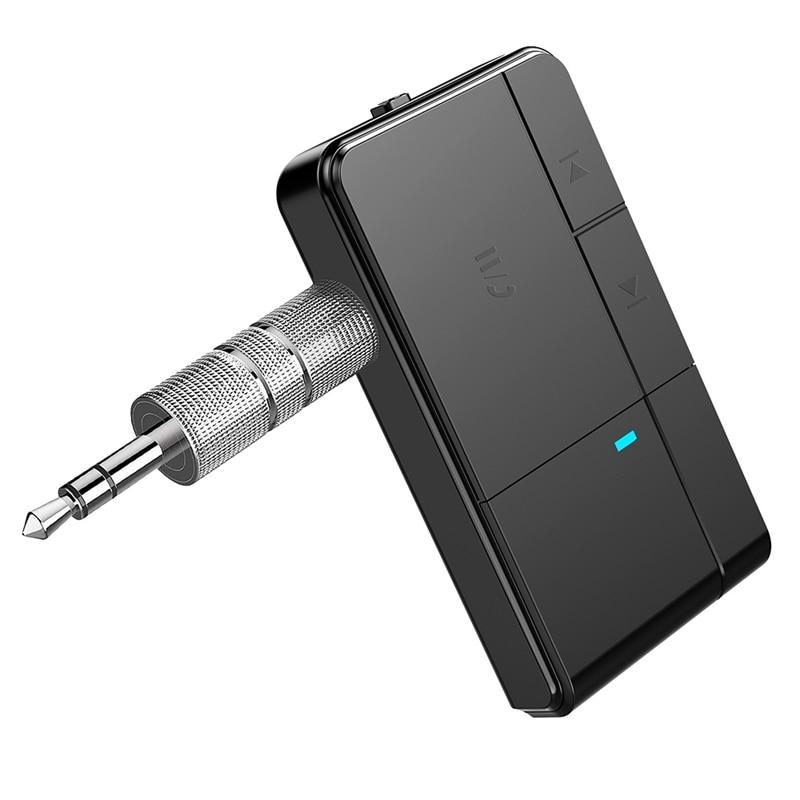AMS-J20 Bluetooth 5.0 Receiver 3.5MM Jack AUX MP3 Music Car Kit Mic Handsfree Call Wireless Adapter Speaker Headphone Audio Tran