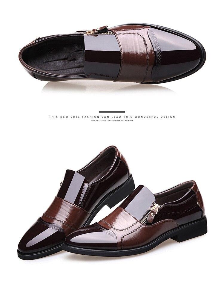 couro oco para fora respirável sapatos formais
