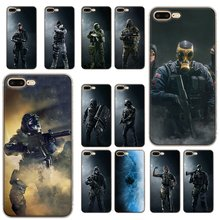 Mobile Phone Case for iPhone 11 Pro 6 6s 7 8 P Lus iPhone XR X XS Max 5 5S SE Shell Rainbow Six Siege Operation Black Ice Hard Cover(China)