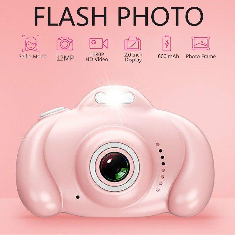 1080p Video Recorder Flash 12MP Camera Toy Camera Mini 2.0 Inch High Definition IPS Screen Children's Camera Children's Gifts