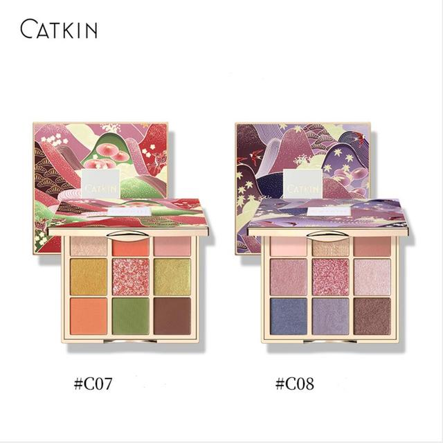 CATKIN Eyeshadow Palette Makeup, Matte Shimmer 9 Colors, Highly Pigmented, Creamy Texture Natural Bronze Neutral