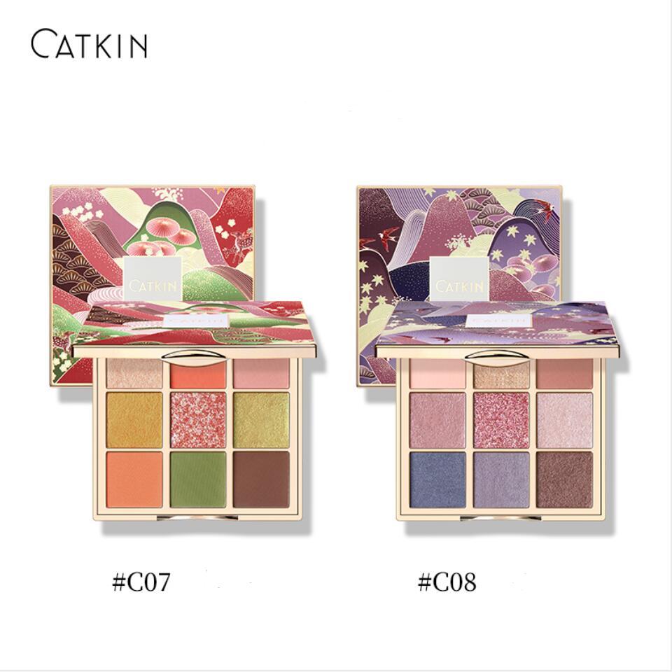 CATKIN Lidschatten-palette Make-Up, Matte Schimmer 9 Farben, Hoch Pigmentierte, Cremige Textur Natürlichen Bronze Neutral