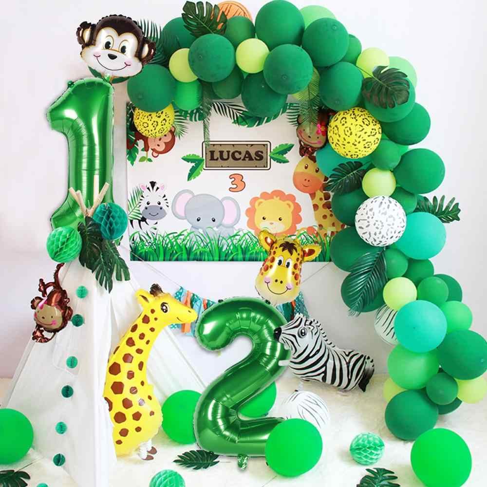 Patimate Safari Động Vật Biểu Ngữ Rừng Cho Tiệc Safari Trang Trí Tiệc Rừng Động Vật 1st Sinh Nhật Trang Trí Hoang Một Trong