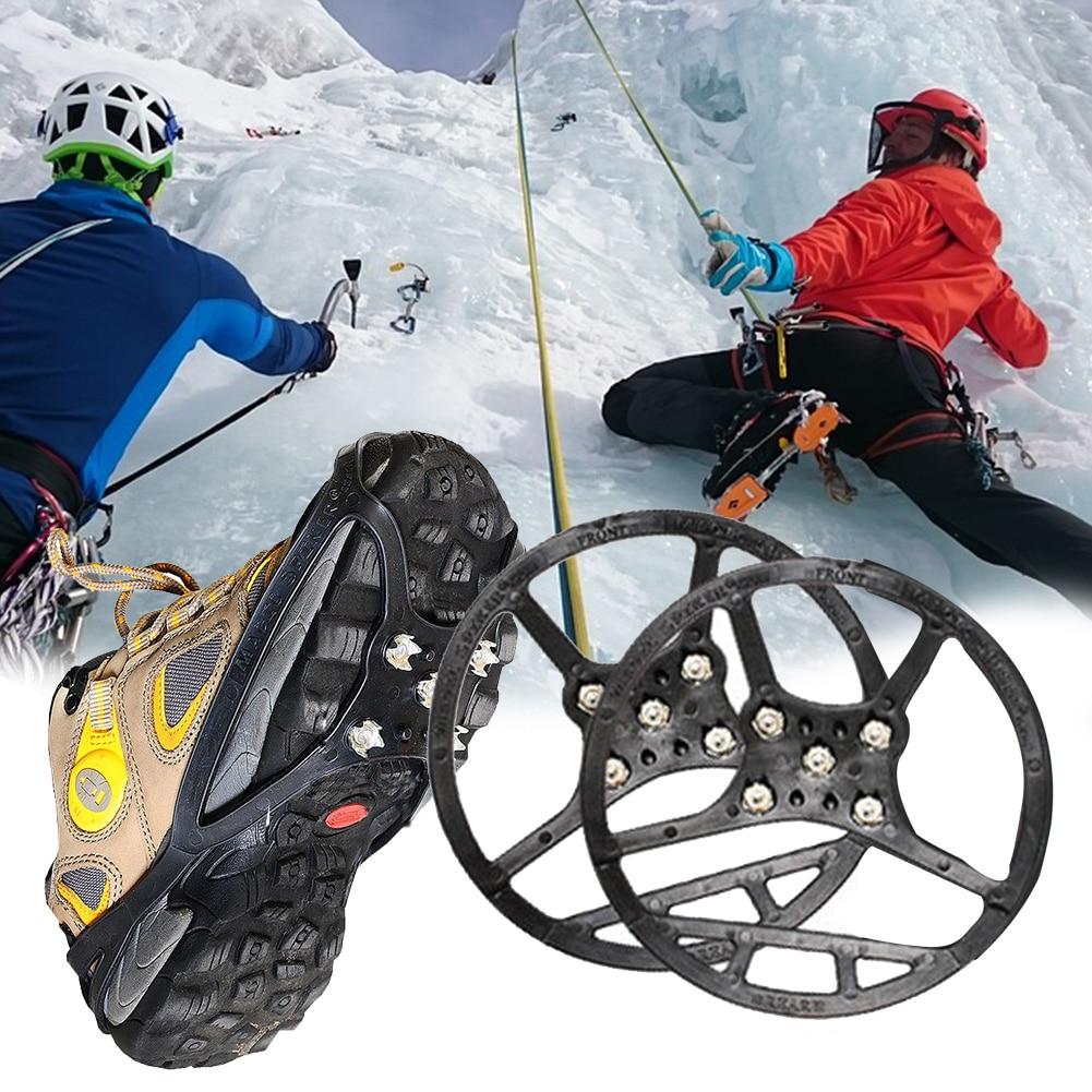 Anti-Slip Crampon Climbing Cross Country Studded Boot Sole Grip Hiking Sport
