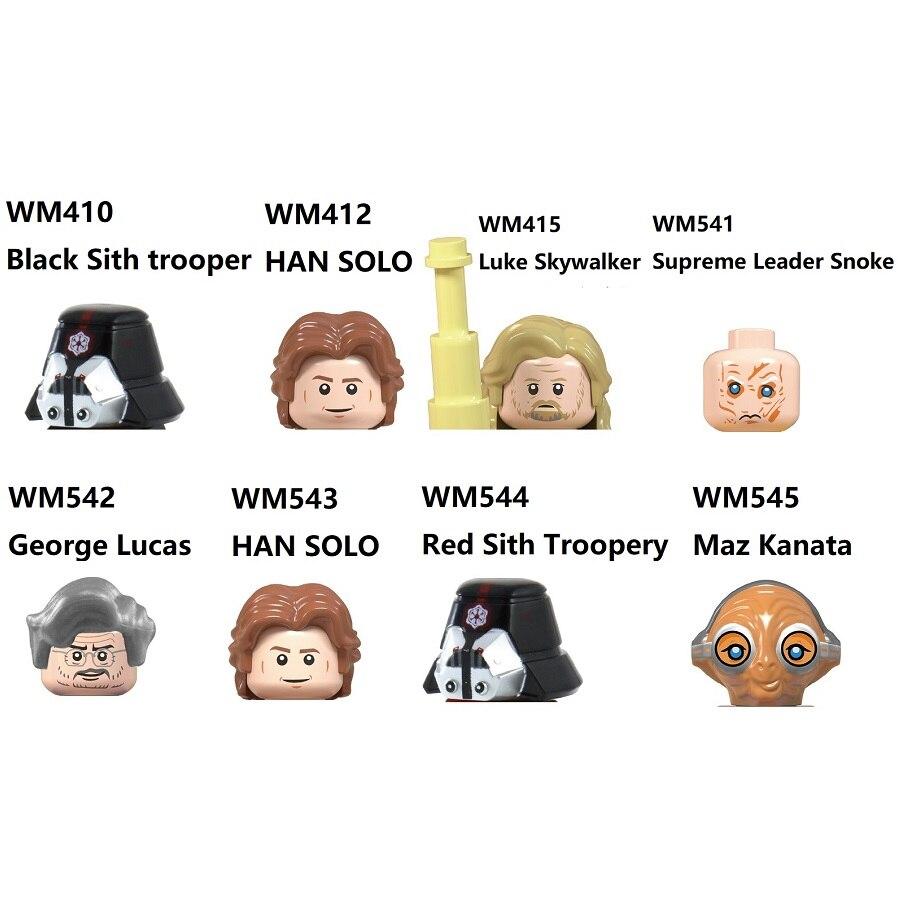 МАЗ каната Джордж Лукас, превосходный лидер, СНУК, Хан Соло, Люк Скайуокер, красный солдат сита, мини Экшн-фигурки, игрушки