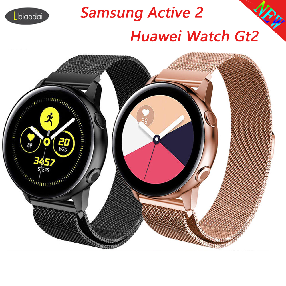 Milanese Strap For Samsung Galaxy Watch Huawei Watch Gt2 Active 2 46mm/42mm Gear S3 Frontier Band 22mm Stainless Steel Bracelet