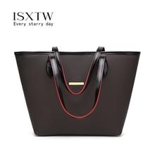 ISXTW 2019 big Women Handbag Leather Shoulder Bags Designer Messenger Ladies Casual Tote sac a main/B29