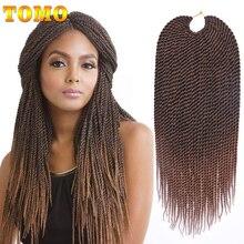 """TOMO волосы, 30 корней, маленькие синтетические плетеные волосы, 1"""" 16"""" 1"""" 20"""" 2"""", Омбре, Сенегальские скрученные, вязанные крючком косички, волосы для наращивания, красный цвет"""