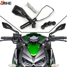 Universal Motorcycle Rearview Mirrors Side Mirror For kawasaki Z300 ER-6N ER-6F ER-5 Z800 Z900 Z1000 Z750 W800 ZRX 400 1100 1200