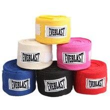 2 rolos de 3m algodão esportes cinta boxe bandagem sanda muay thai taekwondo mão luvas envolve boxe handbands para treinamento ataduras