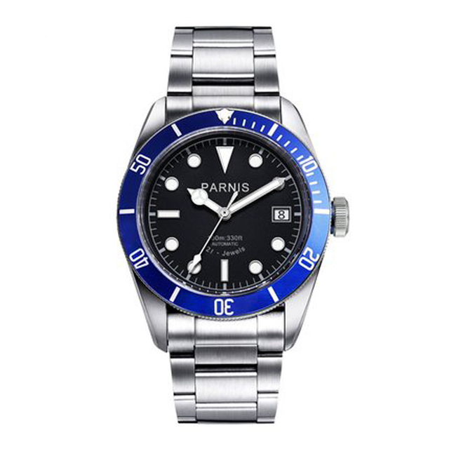 パーニス 41 ミリメートル腕時計メンズ御代田自動機械式ムーブメントステンレス鋼発光高級ブランドサファイアクリスタル腕時計男性