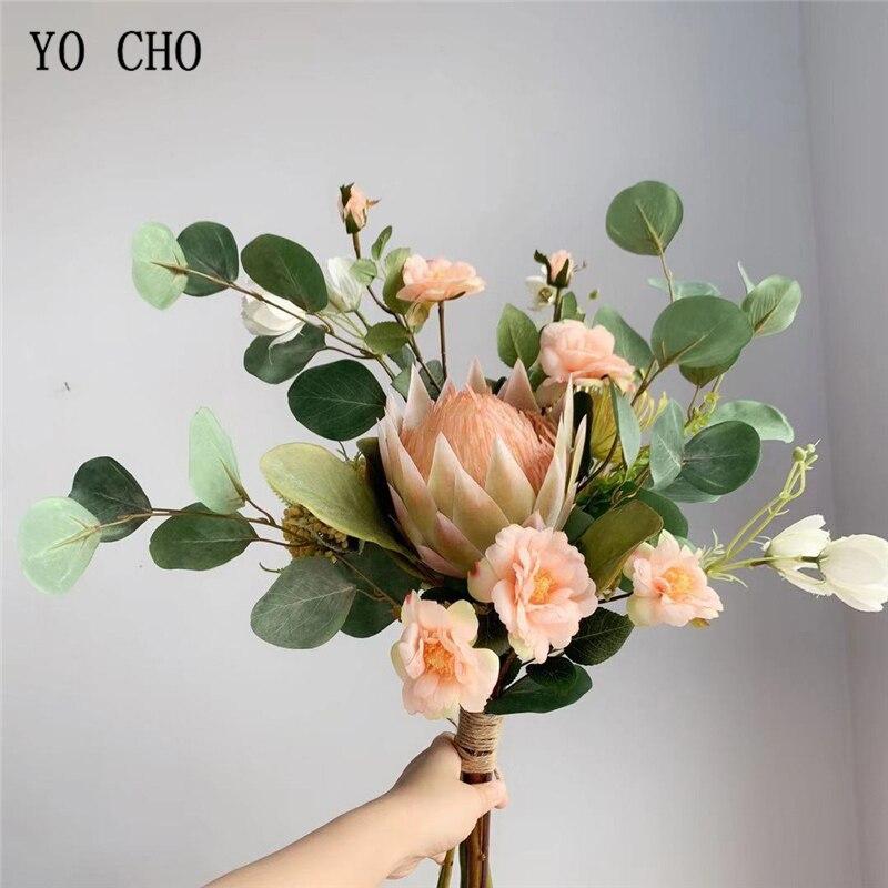 YO CHO Bride Wedding Bouquet Sisters Holding Flower Bouquet Artificial Flower Rose Monarch Flower Sims Azalea Wedding Bouquet