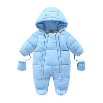 Autumn and winter Baby boy girl clothes Hooded Thicken velvet padded warm cotton newborn Baby snowsuit coat 6M-24M autumn and winter baby boy girl clothes hooded thicken velvet padded warm cotton newborn baby snowsuit coat 6m 24m