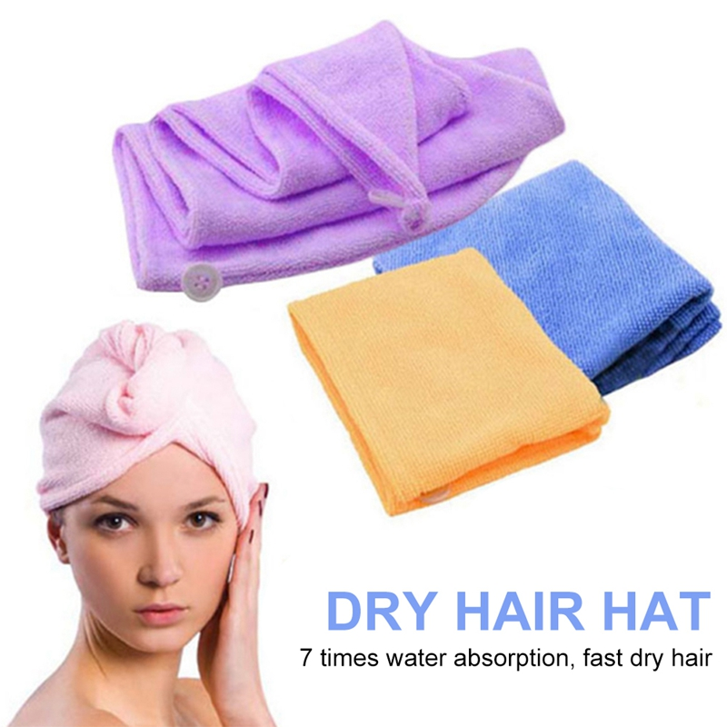 New Microfiber Dry Hair Hat Magic Quick Dry Hair Soft Towel Bath Head Wrap For Women Bathing Sleep Salon Head Cover Wrap Hat