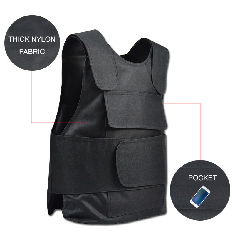 Men Women Adjustable Hard Protective Stab-resistant Stabproof Anti-cut Safety Vests Security Guard Military Tactical Vest