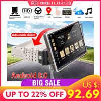 """10,1 """"Android 8,0 Radio de coche 1 Din 8 núcleos RECEPTOR ESTÉREO GPS estéreo Wifi bluetooth RDS Audio Universal coche reproductor Multimedia"""
