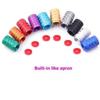 10PCs /1PC Universal Dustproof Aluminium Alloy Bicycle Cap Wheel Tire Covered Car Truck Tube Tyre Bike Accessories 10 Colors image