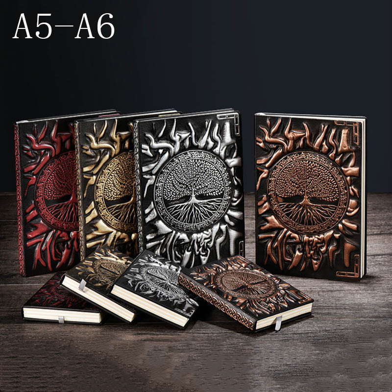 A5 / A6 Relief Notebook Tree Of Life Book Planner School Supplies Office Culture And Education