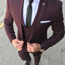 Men Suit Blazer Dress Wedding-Suits Groom Slim-Fit 3piece Pant Prom-Tuxedo Business Designs
