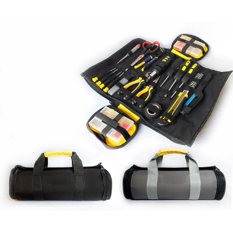 Junejour 1PC Electrician Tool Bag Organizer ToolKit Rolled  Plier Woodworking Portable Large Capacity Bags Multifunction New