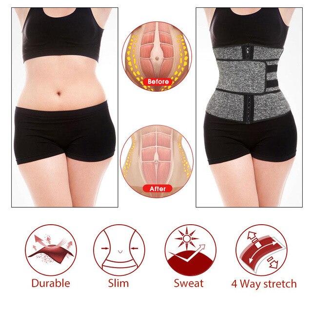 1Pcs Women Body Shaper Belt Hot Sweat Belt Neoprene Sauna Suit for Weight Loss Cincher Workout S 2