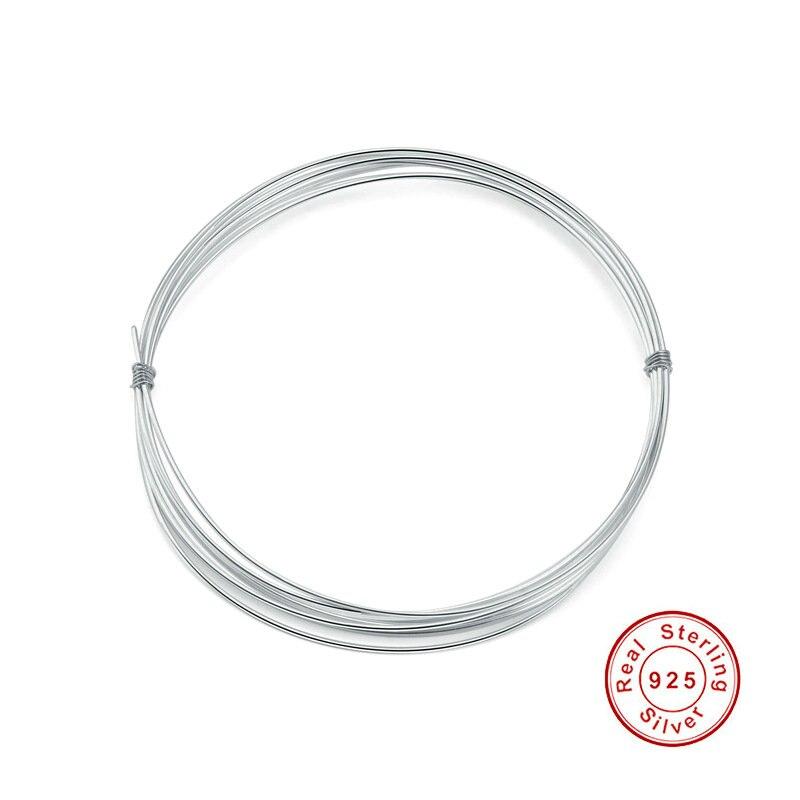 100cm 925 Sterling Silber Draht für DIY Charme Ohrring Armband Edlen Schmuck, Der Schmuck Erkenntnisse Zubehör