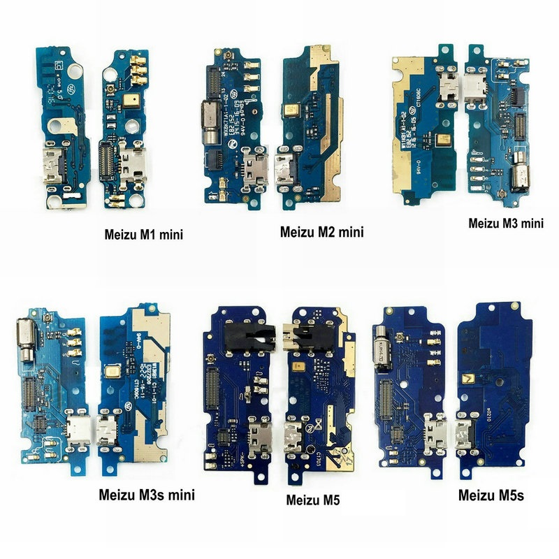 New Microphone Module+USB Charging Port Board Flex Cable Connector Parts For <font><b>MEIZU</b></font> M1 M2 M3 <font><b>M3s</b></font> M5 M5s M6 <font><b>mini</b></font> Replacement image