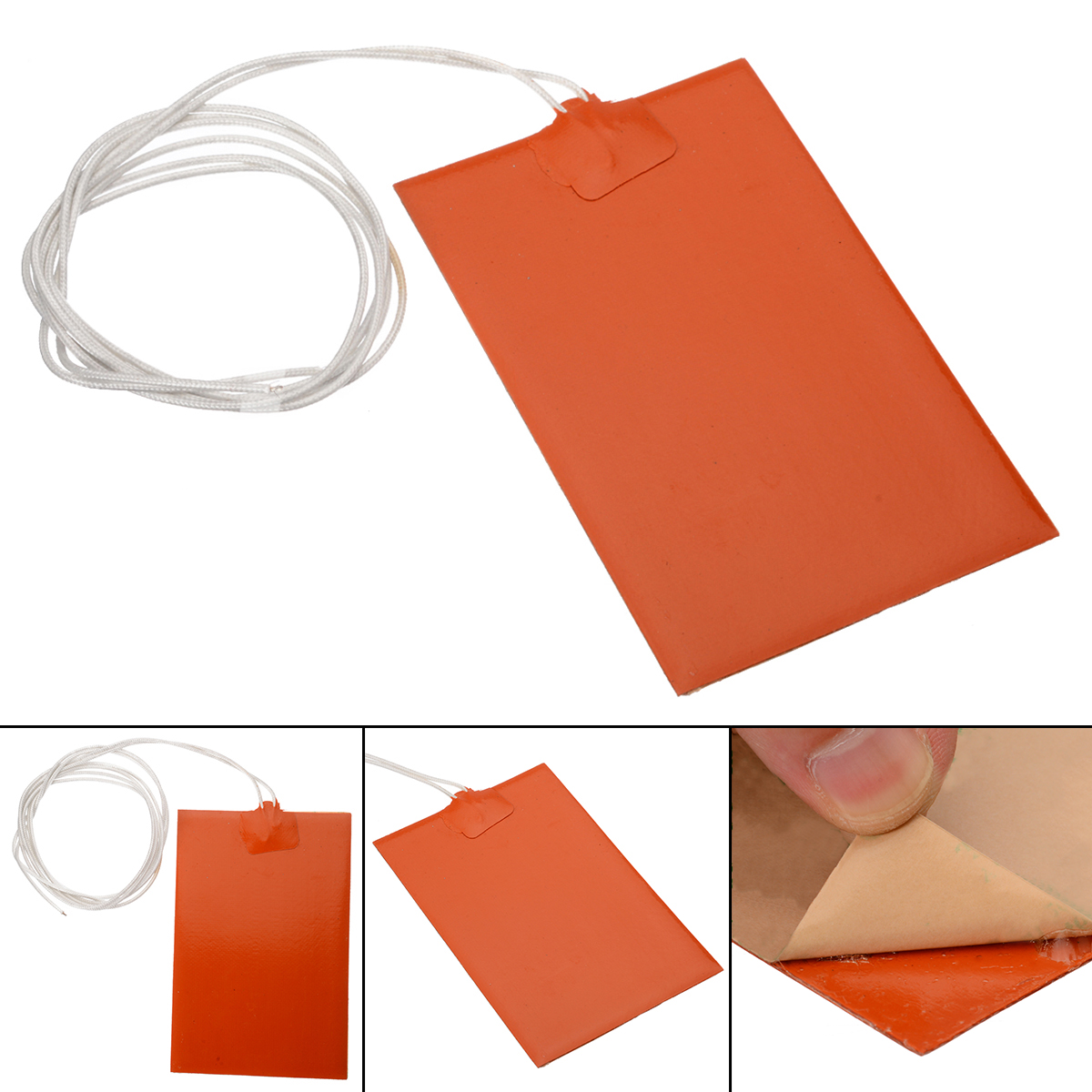10x15cm 300W Silicone Heated Bed Engine Oil Tank Heating Mat Universal Rubber Heating Mat Warming Accessories
