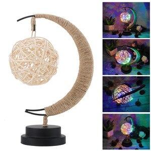 Image 2 - Rękodzieło LED lampka nocna księżyc lampa gwiezdna Retro dekoracyjna lampa stołowa prezenty na urodziny, boże narodzenie dekoracje weselne