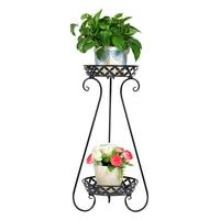 Arte do ferro flor rack multi andares uma sala de estar tipo de pouso varanda interior chlorophytum chão verde luo flowerpot prateleiras|Prateleiras de plantas|   -