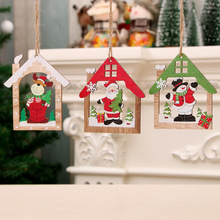 Christmas Decorations Wood Craft Tree Small Pendant Creative New