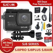 Action Camera Original SJCAM SJ8 Series SJ8 Air & SJ8 Plus & SJ8 Pro Camera 1290P 4K WIFI Remote Control Waterproof Sports DV