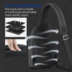 Image 5 - 2020 nowy Tigernu RFID z zabezpieczeniem przeciw kradzieży torba na klatkę piersiowa s wodoodporna mężczyźni lekka torba na klatkę piersiowa moda wysokiej jakości zamki błyskawiczne