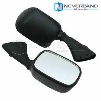 Black Plastic Rear View Side Mirrors Fit For Suzuki HAYABUSA GSX1300R 1999-2009 D40