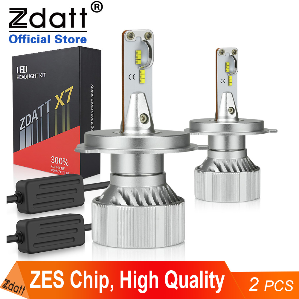 Zdatt H7 Led Canbus H1 H11 H4 LED 9005 HB3 9006 HB4 Car Light ZES HeadLights Bulb 100W 12000LM Headlight 12V Automobiles